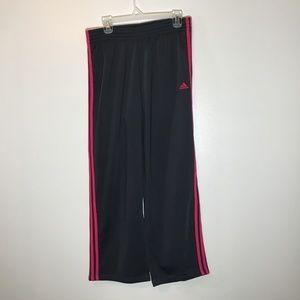 Adidas Track/Jogger Pants w/Pink Side Stripes - L